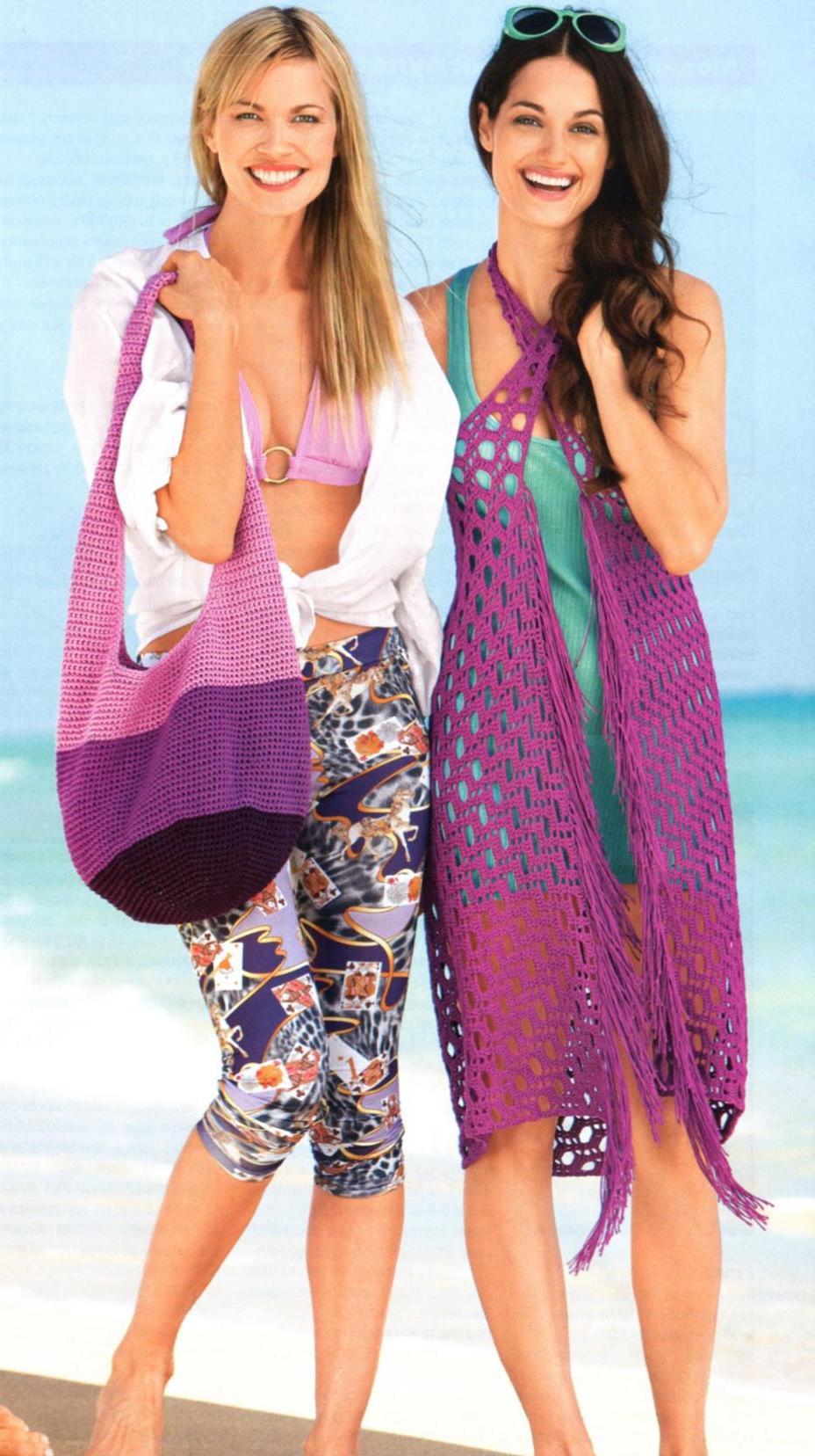 как сделать сумку своими руками, вязание схемы модели для женщин, вязание для пляжа