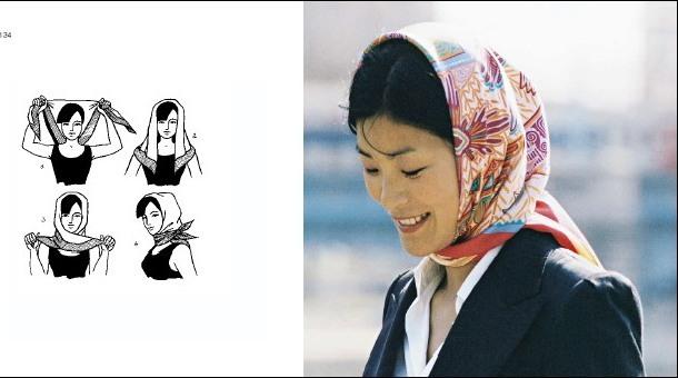 как повязать платок, как красиво повязать платок, как носить платок