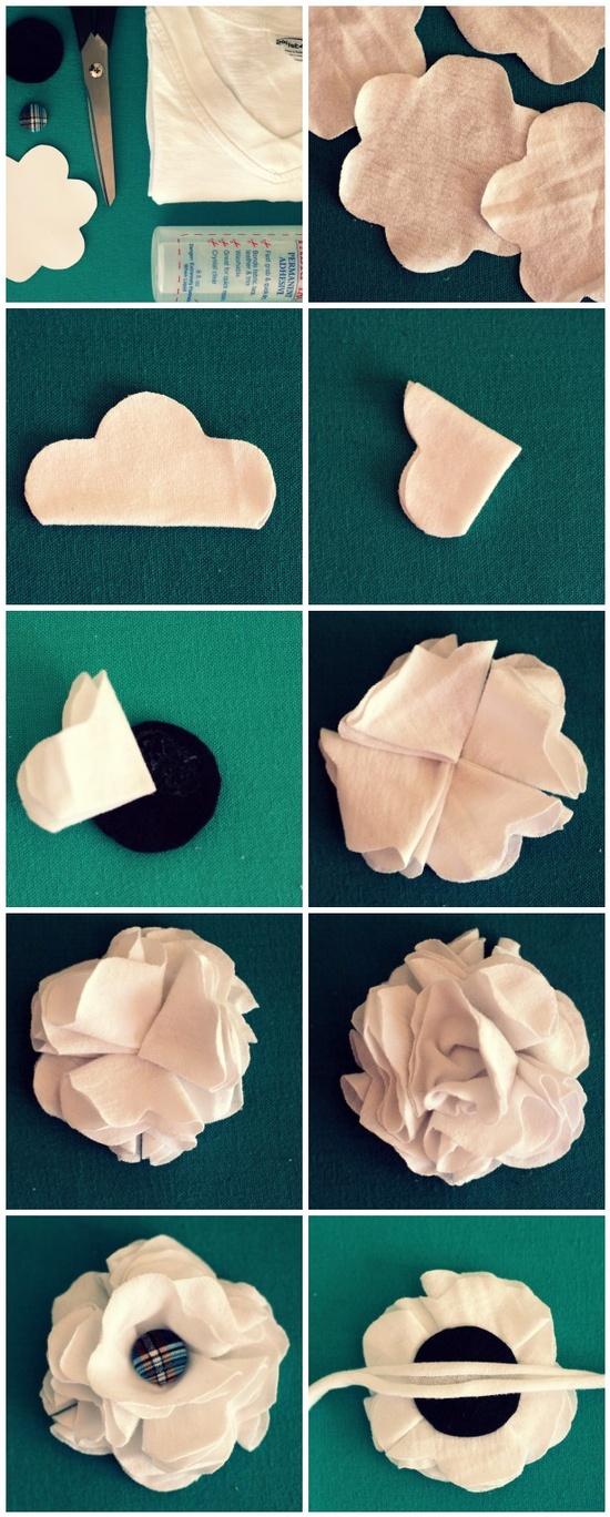Цветы для броши из ткани своими руками