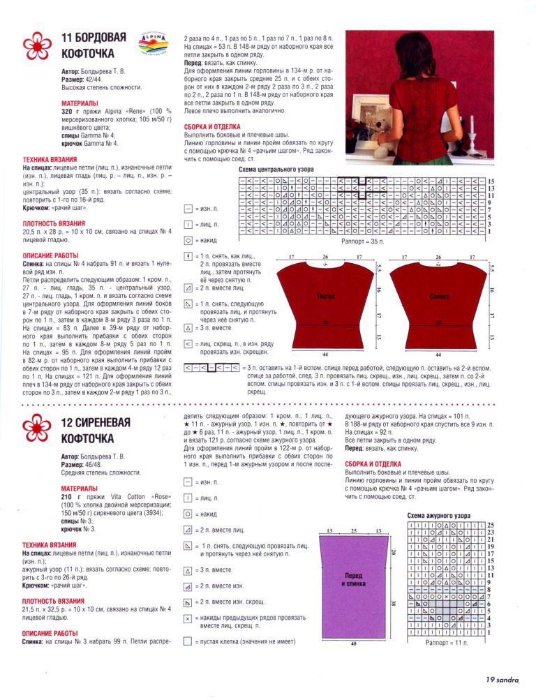 вязание, вязание схемы модели для женщин, вязаные топы