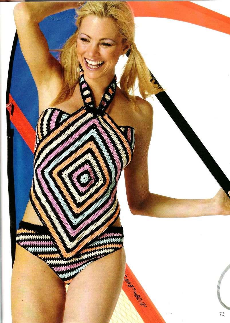 вязаный купальник, схема вязания купальника, вязание, вязание для пляжа, вязание спицами узоры и схемы, вязание схемы модели для женщин, женская одежда, одежда для пляжа,