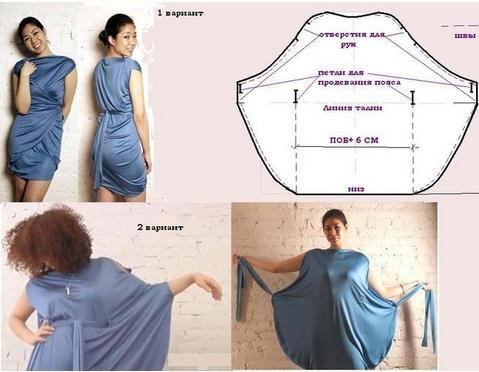платье-трансформер, как сшить платье, простое платье, женская одежда, идеи для шитья, шитье, шитье одежды, шитье своими руками, шьём легко,