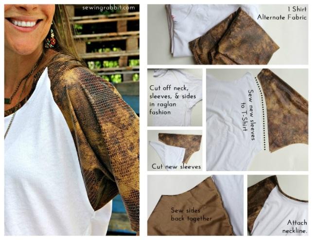 как переделать футболку, топ из футболки, платье из футболки, декор одежды, женская одежда, идеи для шитья, переделываем вещи, шитье
