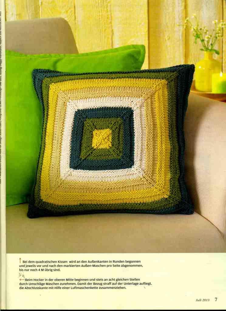 вязаные подушки, вязаный чехол на пуфик, вязание, идеи для вязания, вязание для дома, декор для дома, украшения своими руками для дома,