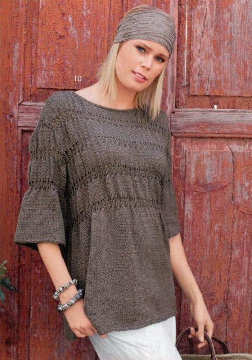 вязание, вязание спицами туники платья, вязаные туники со схемами, вязание схемы модели для женщин,