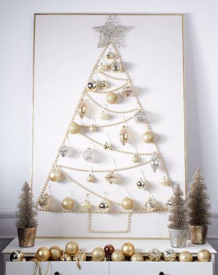 декор для дома, настенные украшения, праздничный декор, украшения своими руками для дома, необычная елка, оригинальная елка, как сделать оригинальную елку своими руками