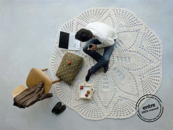вязание, вязание для дома, вязание крючком, декор для дома, полезное рукоделие, украшения своими руками для дома, вязаный коврик, ажурный коврик