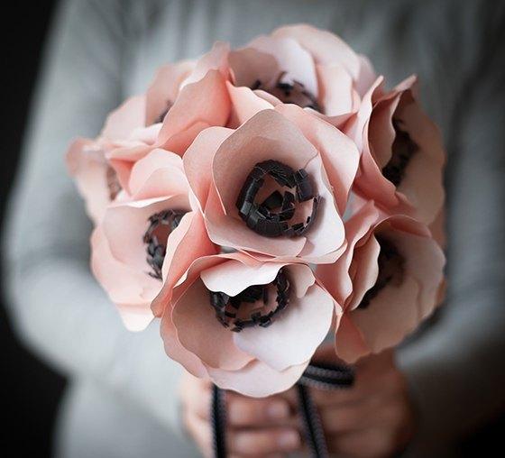 """декор для дома, поделки из бумаги, праздничный декор, украшения своими руками для дома, цветы из бумаги, бумажные цветы """"Анемоны"""""""