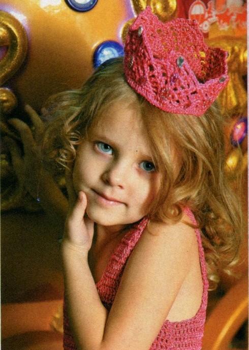 вязание для детей, вязание, вязание для девочек, вязание крючком, платье для девочки крючком, вязаное платье для девочки, вязаная корона