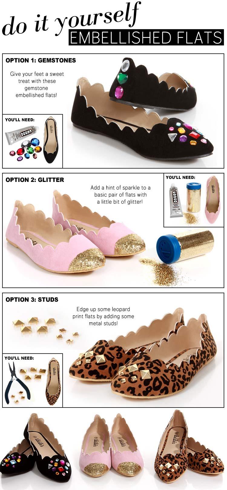 переделываем вещи, полезное рукоделие, декор обуви, как украсить туфли
