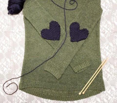 переделываем вещи, полезное рукоделие, заплатки на локтях, оригинальные заплатки, как обновить свитер, как украсить одежду