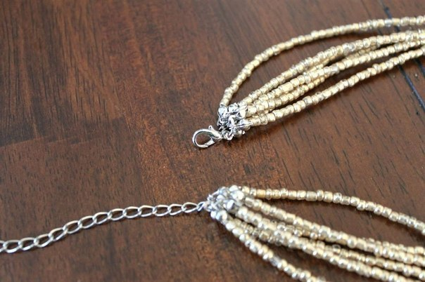 украшения своими руками, ожерелье своими руками, сделать ожерелье, ожерелье из бисера