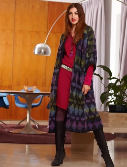 вязание, вязание для женщин, вязание спицами, вязаное пальто схема,