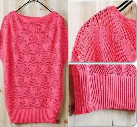 вязание, вязание для девочек, вязание для женщин, вязание спицами, узор вязания спицами сердечки