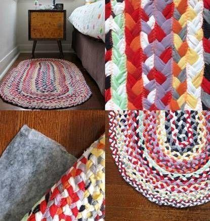 декор для дома, полезное рукоделие, коврик, коврик сшить, коврик из остатков ткани