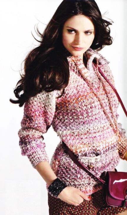 вязание, вязание для женщин, вязание спицами, пуловер свитер, джемпер с воротником