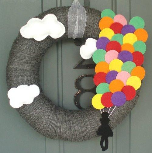 поделки из фетра, украшения своими руками для дома, декор для дома, венок на дверь, венок своими руками