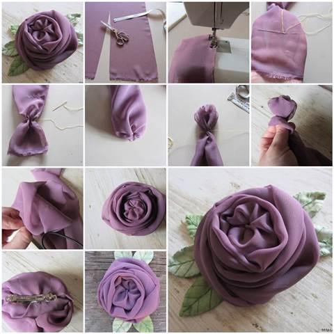 цветы своими руками, украшения своими руками, поделки из ткани