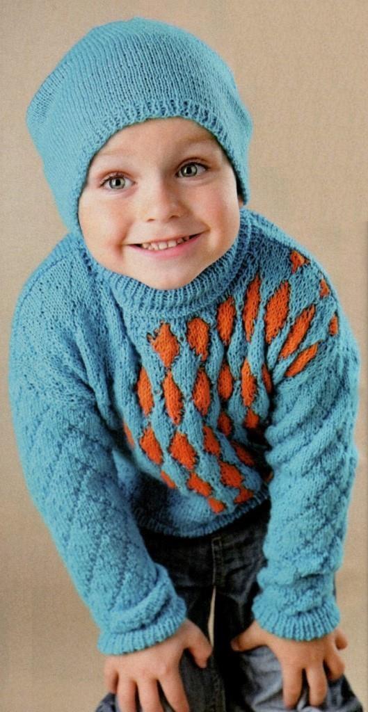 вязание, вязание для детей, вязание для мальчиков, пуловер свитер, вязание спицами,