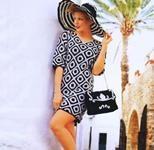 Вязаное платье и сумка