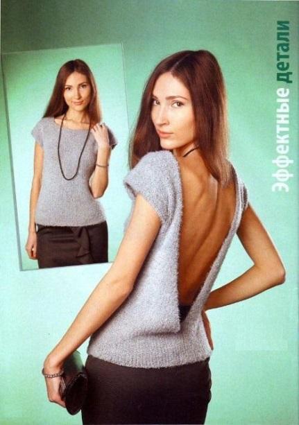 вязаные топы, вязание, вязание для женщин, вязание спицами, вязаный топ с открытой спинкой