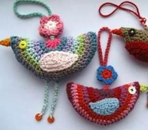 игрушки своими руками, полезные мелочи своими руками, вязание крючком, вязаные птички