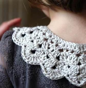 вязание, вязание для девочек, вязание крючком, украшения своими руками, Вязаный воротник крючком,