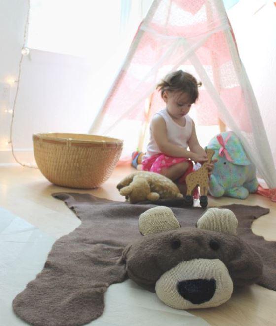 Ковер «шкура медведя» для детской комнаты
