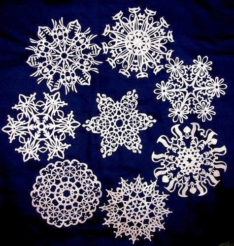 МЕГА подборка: шаблоны новогодних снежинок