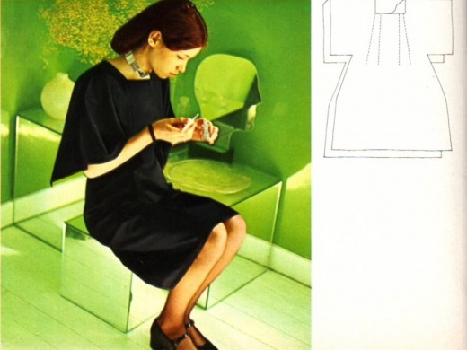 ретро-платье, простая выкройка платья, платье своими руками, шитье, шитье для начинающих, шитье одежды, шитье своими руками,