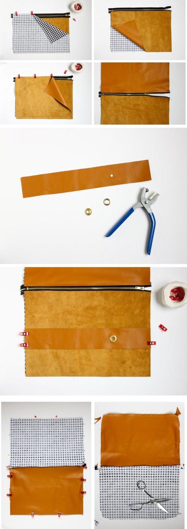клатч своими руками, сумка конверт, сумка своими руками, полезное рукоделие, поделки из кожи,