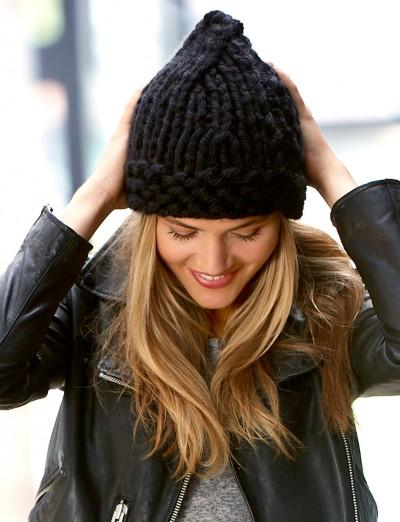 шапка из толстой пряжи, вязание для девочек, вязание, вязание для женщин, шапка, вязание спицами, вязание простое,