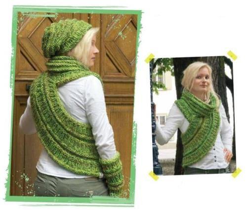 оригинальный шарф, вязаные шарфы схемы, шапка, вязание, вязание для женщин, вязание спицами,