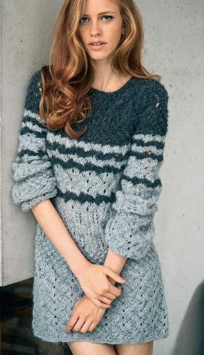 вязаные платья со схемами, вязание, вязание спицами, вязание для женщин,
