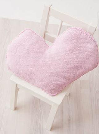 вязаная подушка сердце, вязание, вязание простое, декор для дома, вязание для дома, вязание спицами, вязание для детей, подушки своими руками,