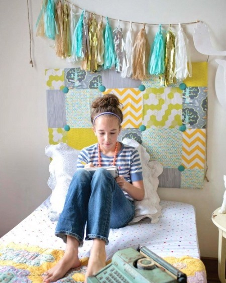пэчворк идеи, Изголовье кровати пэчворк, поделки из ткани, пэчворк, шитье своими руками, шитье, полезное рукоделие,