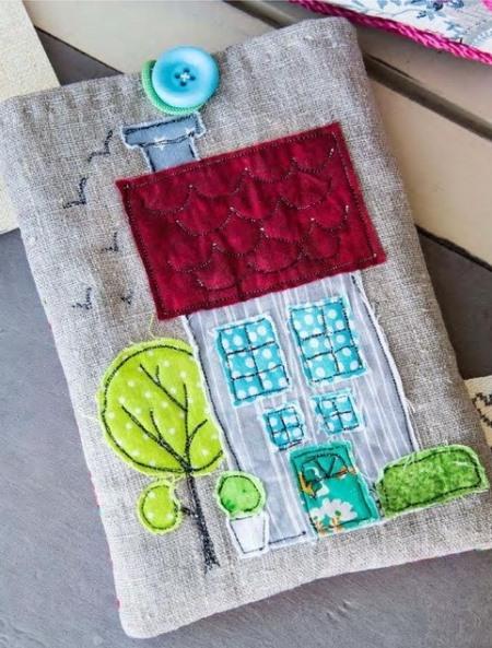 пэчворк идеи, Чехол для планшета пэчворк, поделки из ткани, пэчворк, шитье своими руками, шитье, полезное рукоделие,