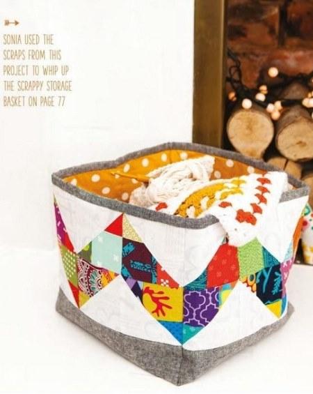 пэчворк идеи, Кофр для мелочей пэчворк, поделки из ткани, пэчворк, шитье своими руками, шитье, полезное рукоделие,