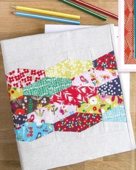 пэчворк идеи, Обложка для блокнота пэчворк, поделки из ткани, пэчворк, шитье своими руками, шитье, полезное рукоделие,