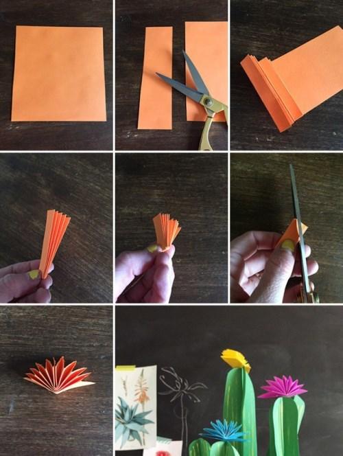 Кактусы из бумаги, поделки из бумаги, украшения своими руками для дома,