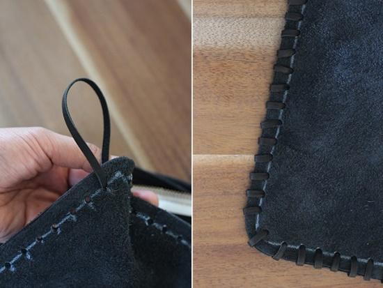 кожаный клатч с бахромой, сумка своими руками, полезное рукоделие, поделки из кожи,