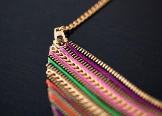 ожерелье из молний, колье своими руками, украшения своими руками,