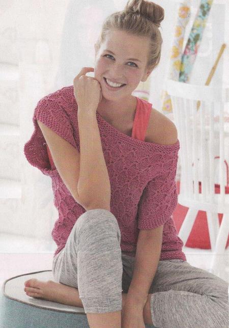 вязаный топ, пуловер свитер, вязание, топ своими руками, вязание для женщин, вязание спицами,
