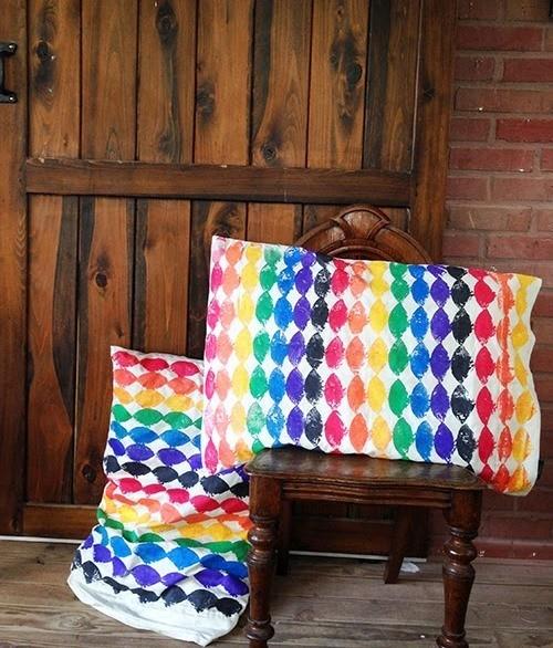 рисунки штампами, штамп своими руками, декор для дома, подушки своими руками, полезное рукоделие,