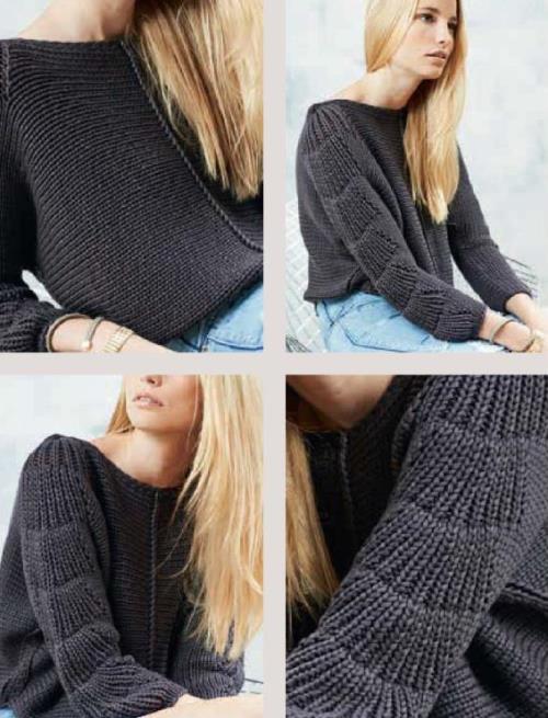 пуловер кимоно вязаный спицами