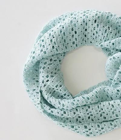 Летний шарф-хомут крючком