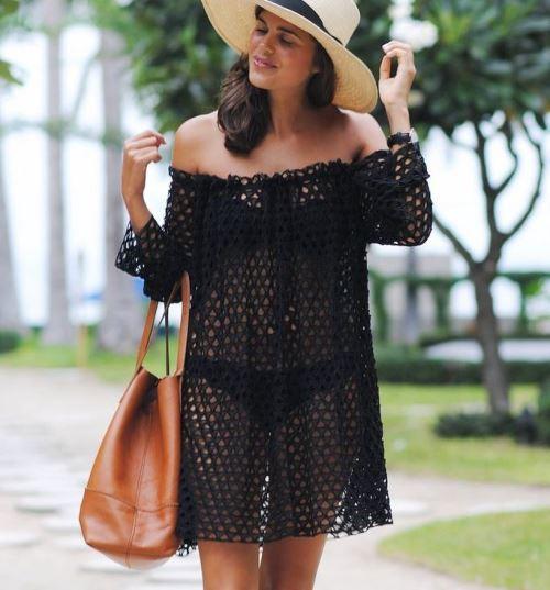 Платье с открытыми плечами выкройка