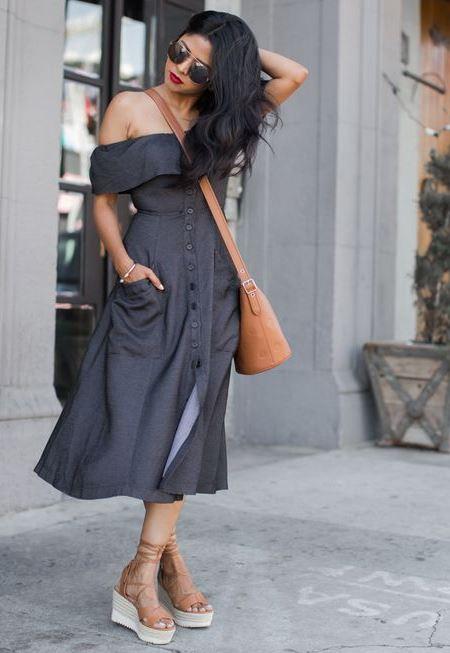 Платье с открытыми плечами. красивые идеи