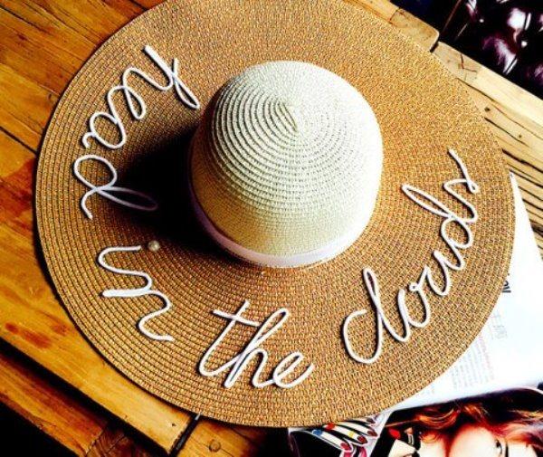 Как сделать модные надписи на соломенных шляпках