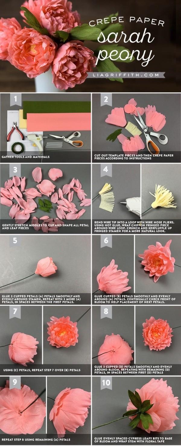 Цветы своими руками. Как сделать бумажные пионы